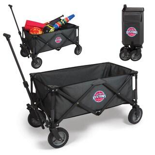 Picnic Time Detroit Pistons Dark Grey Metal/Polyester Utility Wagon