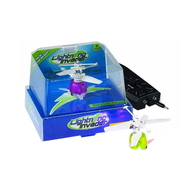 Tedcotoys Lightning Invader Green or Purple LED Remote Control Lightning Drone