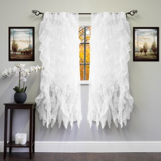 Voile 50 x 63 Vertical Ruffle Tier Window Curtain Panel - 50 x 63