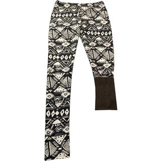 Kids Active Girls' Black Polyester Spandex Faux Fur-lined Printed Jogger