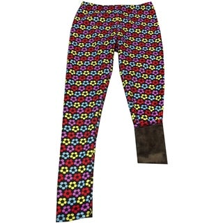 Girls' Patterned Polyester and Spandex Fur-lined Leggings