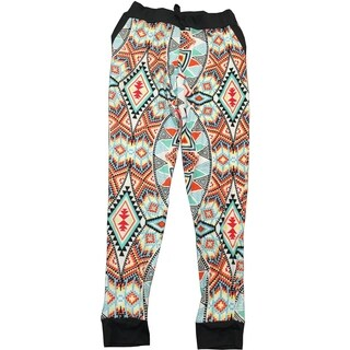 Girls' Multicolor Polyester/Spandex Print Lounge Pants