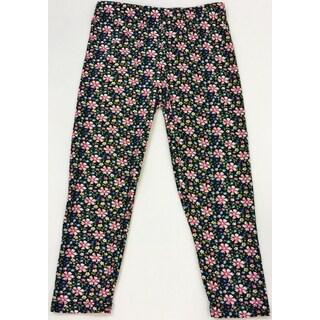 Girls Floral Printed Polyester/Spandex Leggings