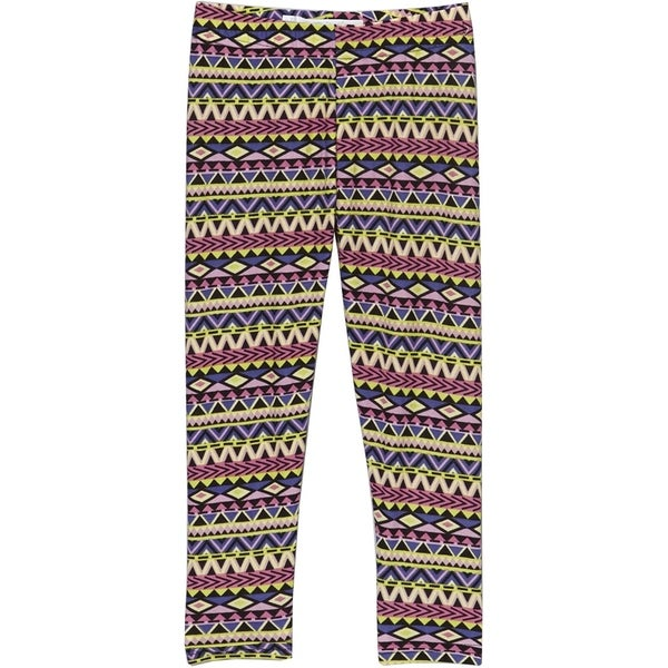 Girls' Spandex Geometric-print Leggings