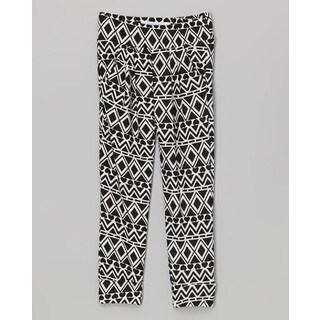 Riviera Girls' Aztec Black Polyester/Spandex Toddler & Kids Printed Lounge Pants