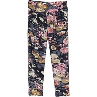 Riviera Girls' Multicolor Polyester/Spandex Floral Printed Joggers