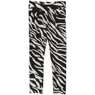 Riviera Girls' Aztec Toddler/Kid's Black and White Polyester/Spandex Printed Jogger Pants