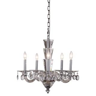 Elegant Lighting Augusta 23-inch Pendant Lamp with Chrome Finish