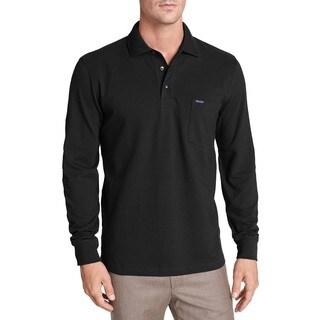 Faconnable Classique Black Long-sleeve Cotton Polo