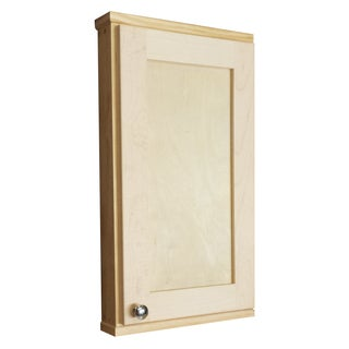Shawnee Series Natural Unfinished Wood Wall Cabinet