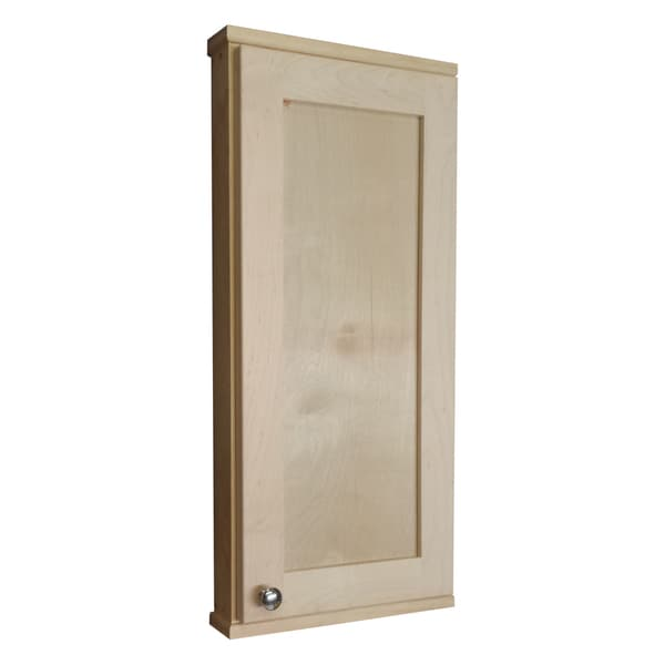 WG Wood Products Shawnee Series 30-inch Unfinished Solid Pine and Maple 7-inch Deep On The Wall Cabinet