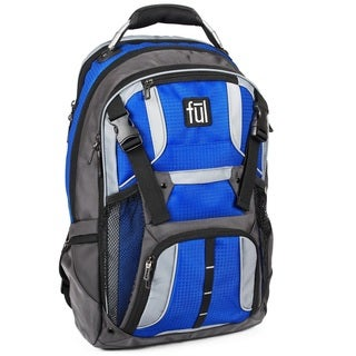 Ful Hexar Blue Nylon Dual-sided Adjustable-strap Laptop Backpack