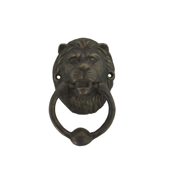 Lion Head Brass Door Knocker (Small)