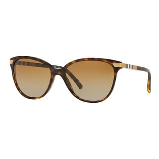 Burberry Women's BE4216F 3002T5 Havana Plastic Cat Eye Sunglasses