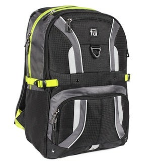 Ful Momentor Tx1 Black/Gray Nylon Adjustable-strap Backpack