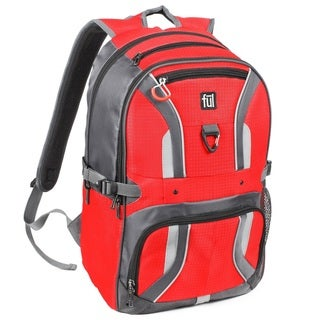 Ful Momentor Red and Black Nylon Tx1 Laptop Backpack