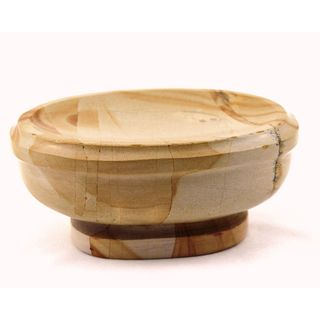 Nature Home Decor Atlantic Collection Teakwood Marble Soap Dish