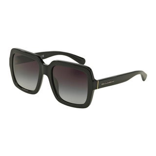 D&G Women's DG4273 501/8G Black Plastic Square Sunglasses