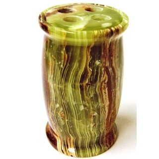 Nature Home Decor Pacific Collection Green Onyx Toothbrush Holder