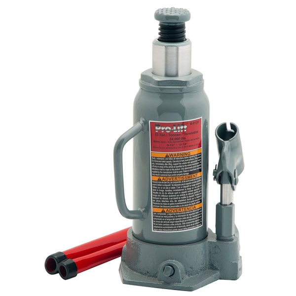 Pro-Lift B-012D Grey 12 Ton Hydraulic Bottle Jack