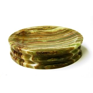 Nature Home Decor Pacific Collection Green Onyx Soap Dish
