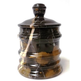 Nature Home Decor Bengal Collection Michelangelo Black Stone Marble Canister