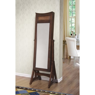 Bekki Jewelry Armoire Cheval Mirror - Cherry