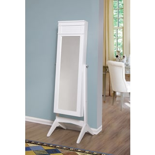 Ashley Jewelry Armoire Cheval Mirror - White