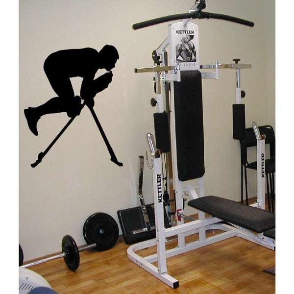 Sport gym athlete muscle training apparatus Wall Art Sticker Decal