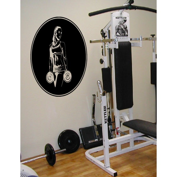 Silhouette of a fitness woman Wall Art Sticker Decal