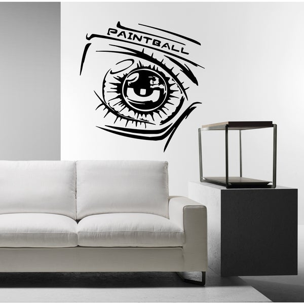 Paintball and eyes Wall Art Sticker Decal