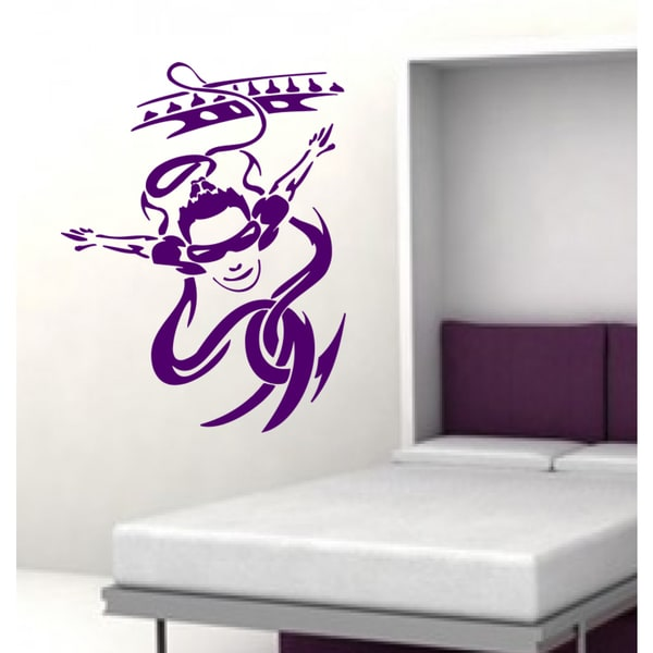 Parachute Skydiving parachutist sport Wall Art Sticker Decal Purple
