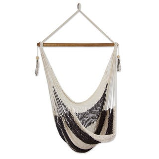 Handcrafted Cotton 'Espresso and Cream' Hammock Swing (Nicaragua)