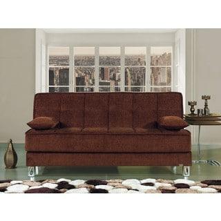 Smart Fit Microfiber Futon Convertible Sleeper Sofa
