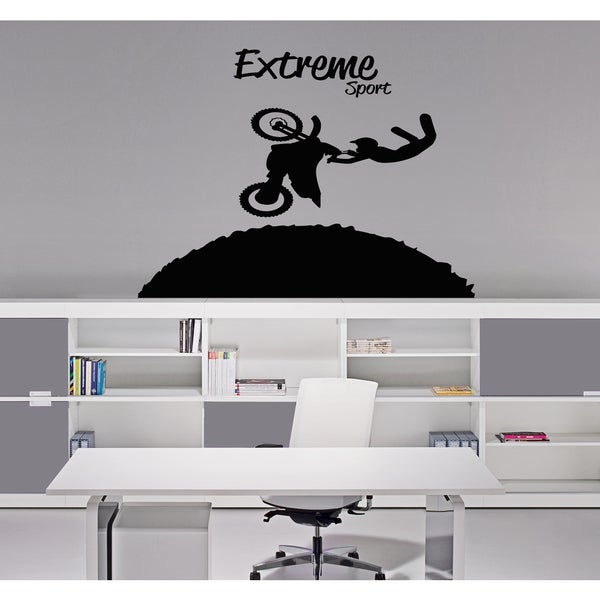 Extreme sports bike Wall Art Sticker Decal