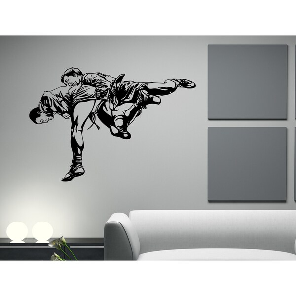 Sport karate Ultimate Fighting dogfight Wall Art Sticker Decal