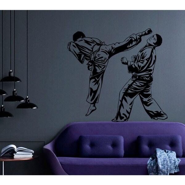 Sport karate Fight Wall Art Sticker Decal