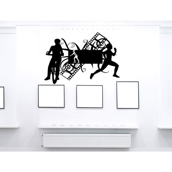 Sport motorcycle a bike film Wall Art Sticker Decal
