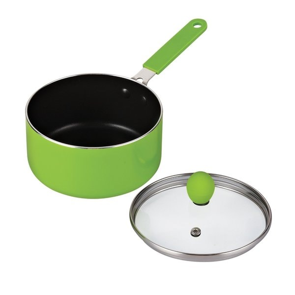 Cook N Home Green 1-quart Mini-size Nonstick Saucepan With Lid Set