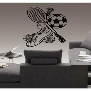 Racket shuttlecocks badminton Wall Art Sticker Decal