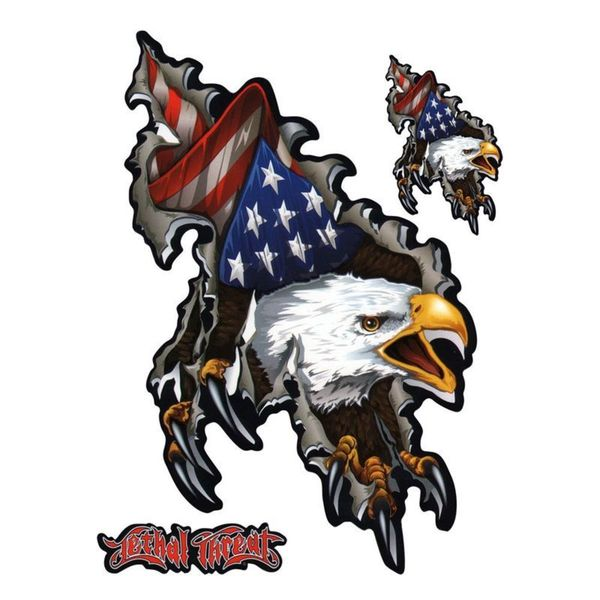 Pilot Automotive 6-inch x 8-inch Left & Right Shred Eagle Vehicle Car Decal Stickers
