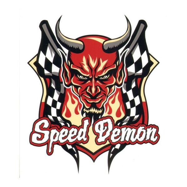 Pilot Automotive 6-inch x 8-inch Speed Demon Vehicle Car Decal Stickers