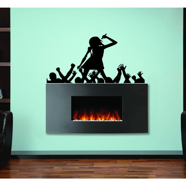 The singer on stage Wall Art Sticker Decal