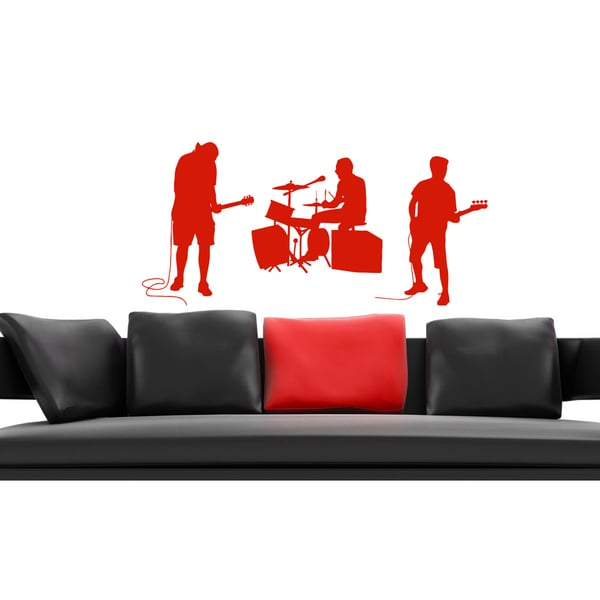 Songs music and musicians Wall Art Sticker Decal Red