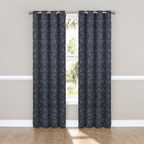 Patricia Blackout Grommet Curtain Panel 84-inch in Chocolate(As Is Item)