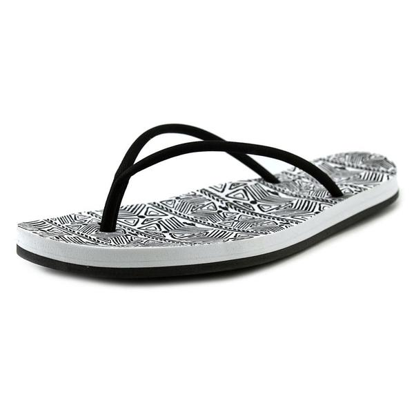 Rocket Dog Women's Palm Beach Black/White Synthetic Low-heel Sandals