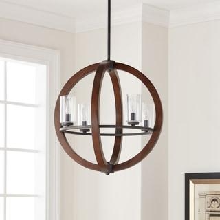 Kichler Lighting Grand Bank Collection 4-light Auburn Stain Chandelier