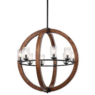 Kichler Lighting Grand Bank Collection 8-light Auburn Stain Chandelier