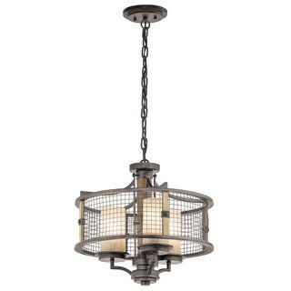Kichler Lighting Ahrendale Collection 3-light Anvil Iron Chandelier/Semi Flush Mount