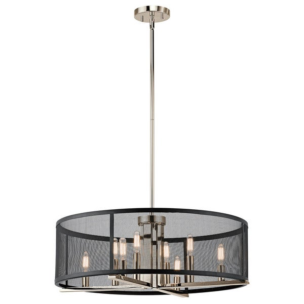Kichler Lighting Titus Collection 8-light Polished Nickel Chandelier/Pendant